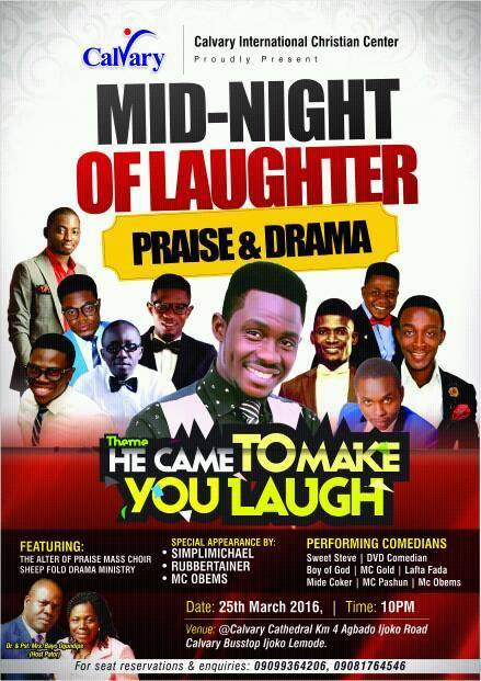 Calvary Sets to Hold First Mid-Night of Laughter