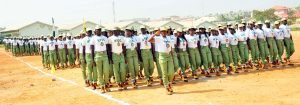 PIC. 17. 2012 BATCH 'C' CORPS  MEMBERS,  MARCHING DURING THEIR PASSING-OUT  CEREMONY AT THE FCT ORIENTATION CAMP IN KUBWA, ABUJA ON TUESDAY  (27/11/12).