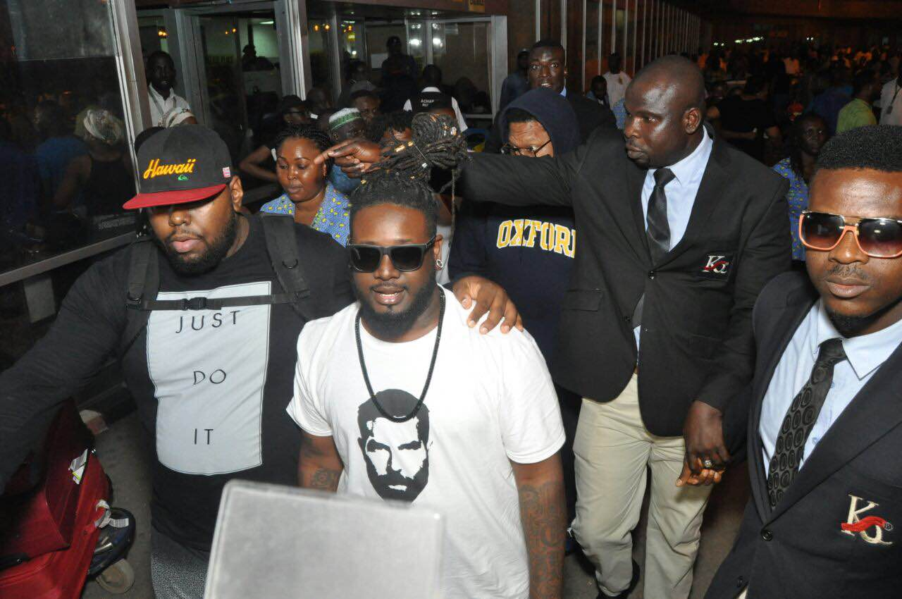American singer T-Pain arrives Nigeria for the Heineken 'Live Your Music' Party
