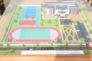 The proposed Ultra Modern Building for the new Lagos State Model School during the Foundation Laying ceremony at Ojo, on Thursday, February 2, 2017.