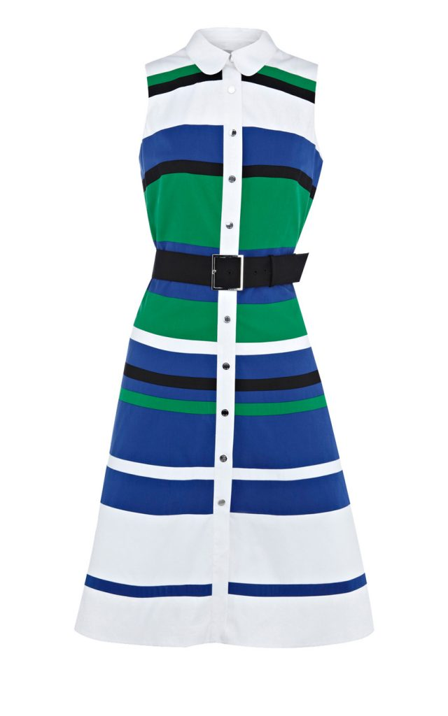 graphic stripe dress3