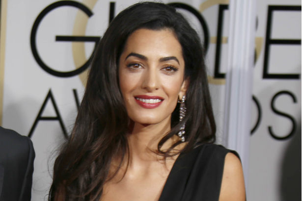 Pregnant Amal Clooney Spotted with Edgy Footwear