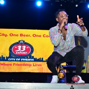 28. Ycee entertains his fans in the City of Friends event
