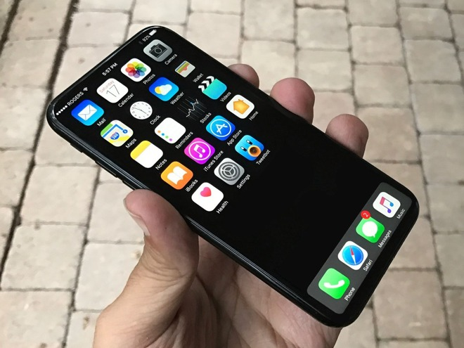 The iPhone X is rumored to have an OLED screen.