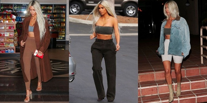 Kanye West Debuts Yeezy Season 6 On Kim Kardashian.