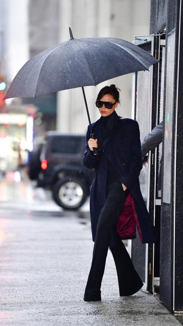 Victoria Beckham's Rainy Day Uniform is Plucked Straight From Her Fall 2018 Runway Show