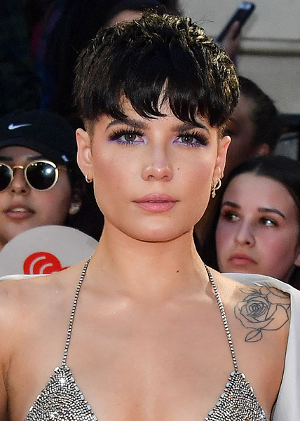 Halsey Look Cute with these Shimmery Purple Under-Liner