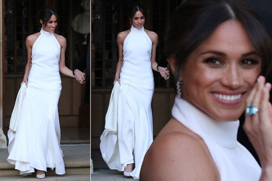 Fashion site releases $45 Meghan Markle reception dress replica