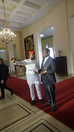 StateCraft Inc. co-founder, Adebola Williams and President Macky Sall_01