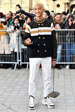 PARIS, FRANCE - MARCH 05: Jaden Smith attends the Louis Vuitton show as part of the Paris Fashion Week Womenswear Fall/Winter 2019/2020  on March 05, 2019 in Paris, France. (Photo by Jacopo Raule/Getty Images)