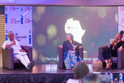 Fire Chat session with Amina Mohammed, Deputy Secretary General, United Nations, Timini Egbuson and Yemi Alade at TFAA 2019 Launch in Abuja