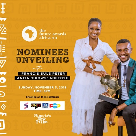 #NigeriasNewTribe: Anita 'Brows' Adetoye and Francis Sule to host The Future Awards Africa 2019 nominees unveiling