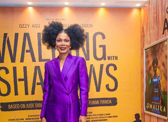 Funmi Iyanda, Olumide Makanjuola, Kunle Afolayan, Tope Oshin, Michelle Dede, others, step out for 'Walking with Shadows' premiere at AFRIFF