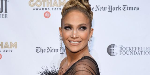 Jennifer Lopez Wore a Breathtaking Sheer Black Feathered Gown to the Gotham Awards