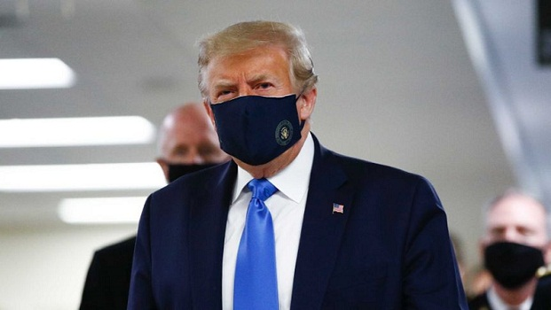 President Donald Trump Wears Mask in Public for First time during Covid-19 Pandemic