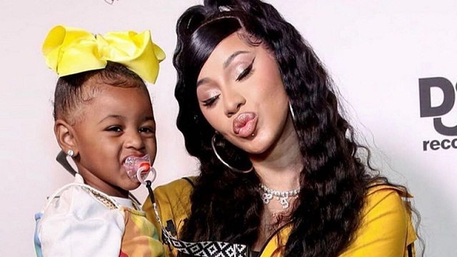 Cardi B Wore a Crystal-Studded Ombré Manicure for Kulture's Second Birthday