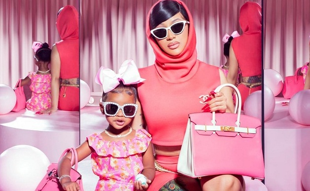 Cardi B Posted Mommy-And-Me Photos with Kulture—and $35,000 Designer Bags