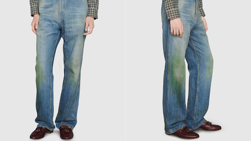 Gucci Is Selling Distressed Jeans With Grass Stains For $765