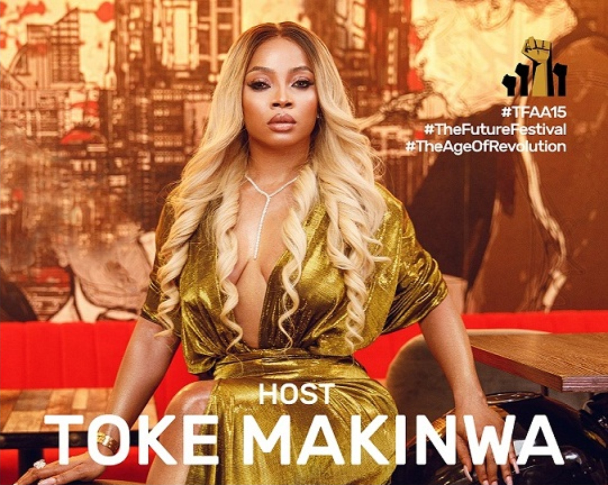 Fresh off #EndSARS protest, Toke Makinwa unveiled as host for The Future Awards Africa 2020 | Airing in partnership with Africa Magic, MTV Base, Pop Central and Cool FM