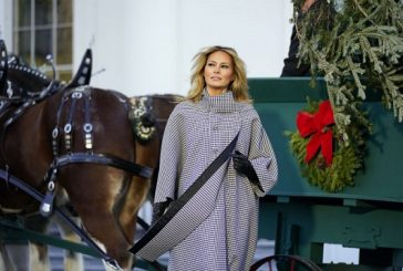Melania welcomes White House tree after being caught on tape saying 'who gives a f***' about Christmas
